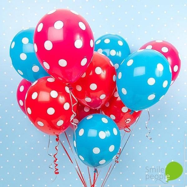 Ассорти из шариков Polka Dots 15 шт