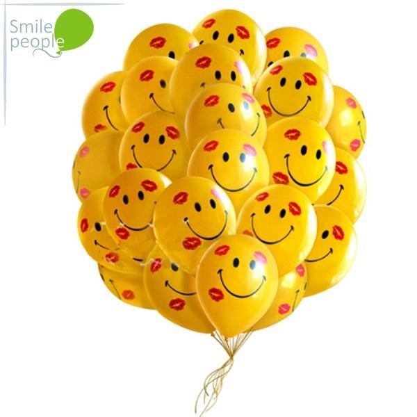 50 шариков смайликов с поцелуями