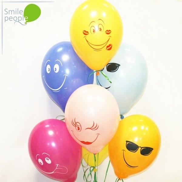 15 шариков смайликов Весёлые улыбки