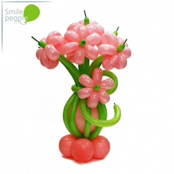 Цветы из шариков букет №1