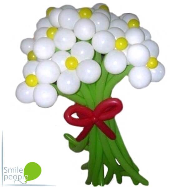 Цветы из шариков букет №3