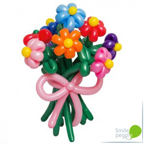 Цветы из шариков букет №9