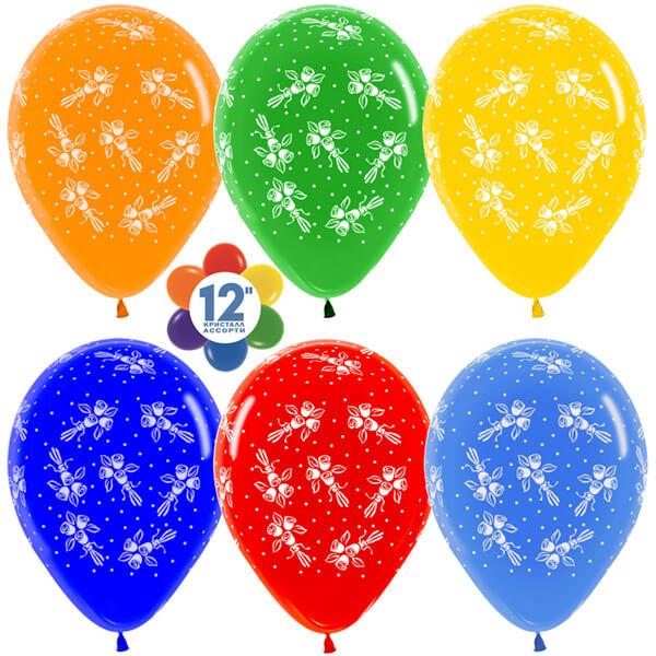 Букеты ассорти кристалл 25 шариков