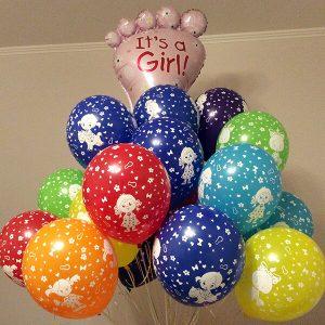 Девочка ассорти пастель 25 шариков