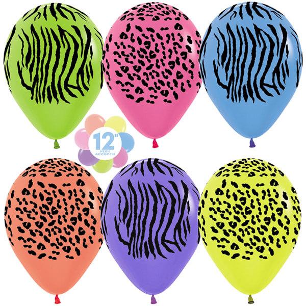 Джунгли ассорти неон 25 шариков