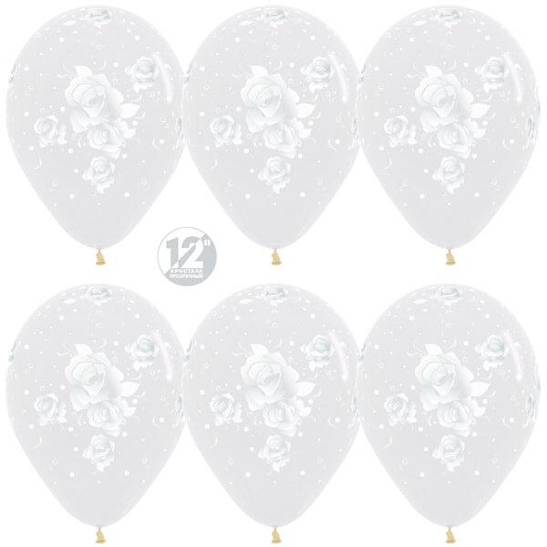 Элегантные розы прозрачный кристалл 25 шариков
