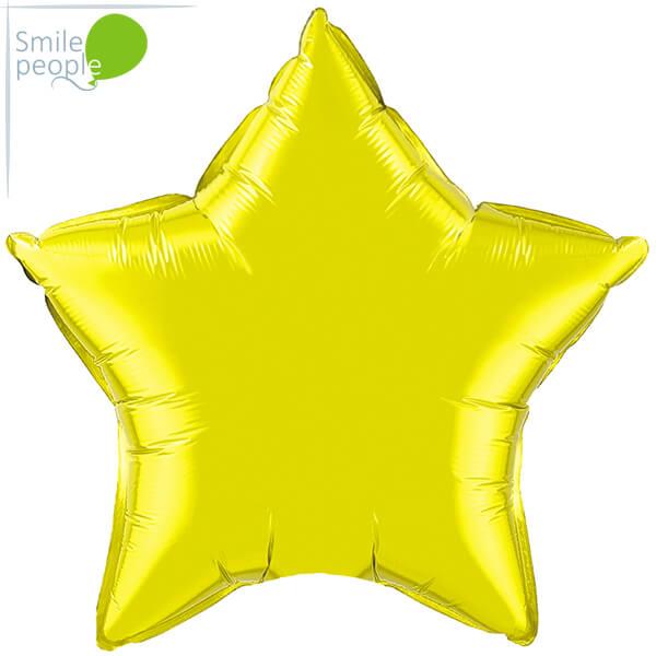 Шар звезда из фольги с гелием