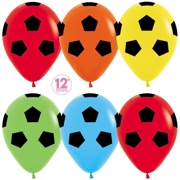 Футбольный мяч ассорти пастель 25 шариков