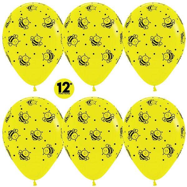 Пчёлки жёлтый пастель 25 шариков