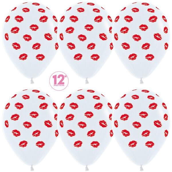 Поцелуи белый пастель 25 шариков