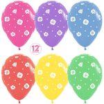 Полевые цветы ассорти пастель 25 шариков