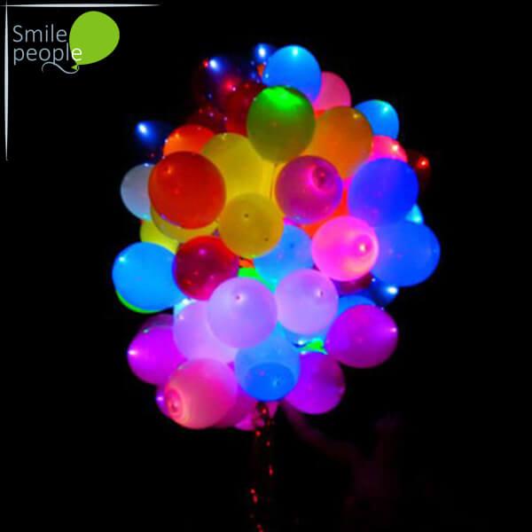 100 светящихся шаров с гелием