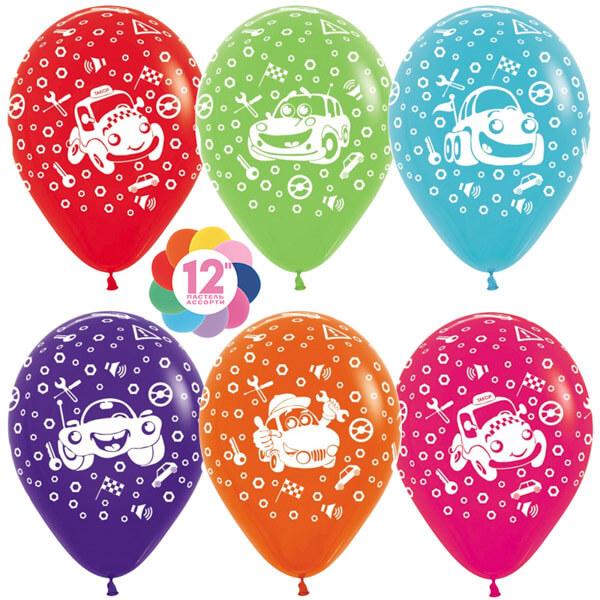 Тачки ассорти пастель 25 шариков