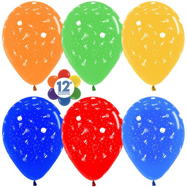 Вечеринка ассорти кристалл 25 шариков