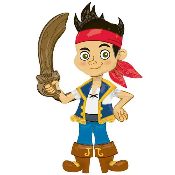 Джейк пират ходячий надувной шар фигура 44″/112 см