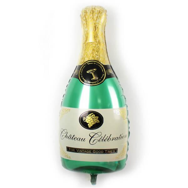 Фольгированный шар бутылка шампанского 39″/99 см с гелием