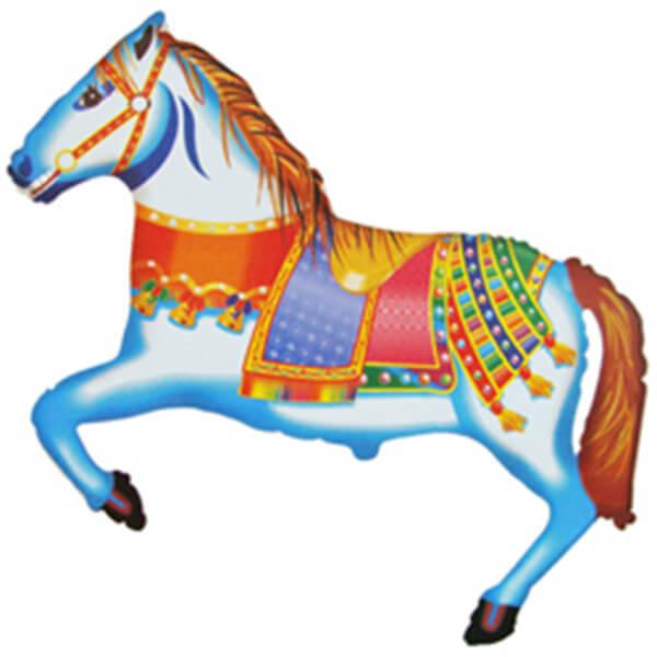 Фольгированный шар цирковая лошадь 42″/107 см с гелием