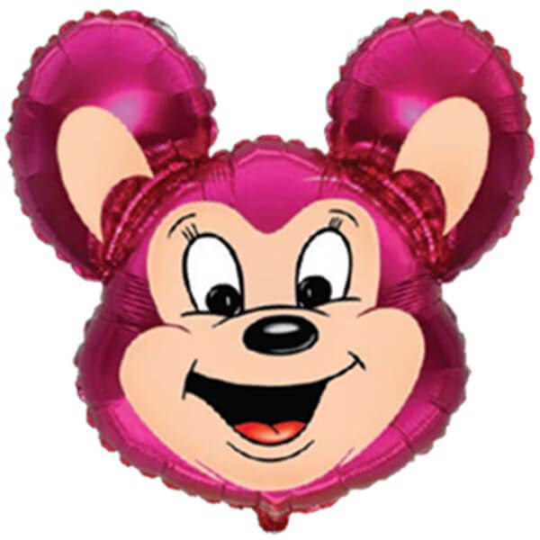 Фольгированный шар могучая мышь, фуше 30″/76 см с гелием
