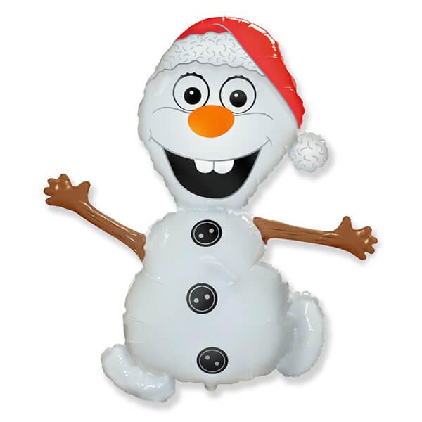 Фольгированный шар снеговик Олаф 32″/81 см с гелием