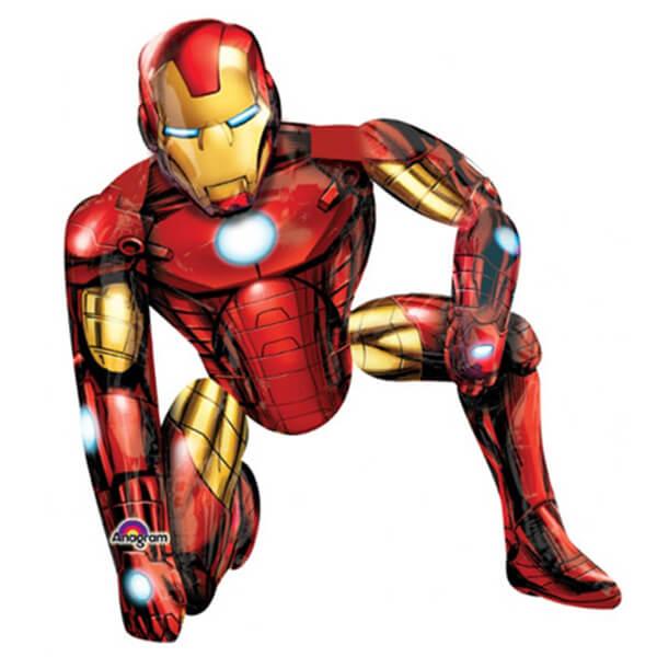 Железный человек ходячий надувной шар фигура 44″/112 см