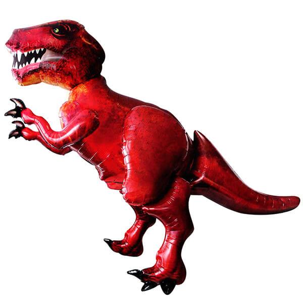 Ходячий шар красный динозавр 68″/173 см с гелием