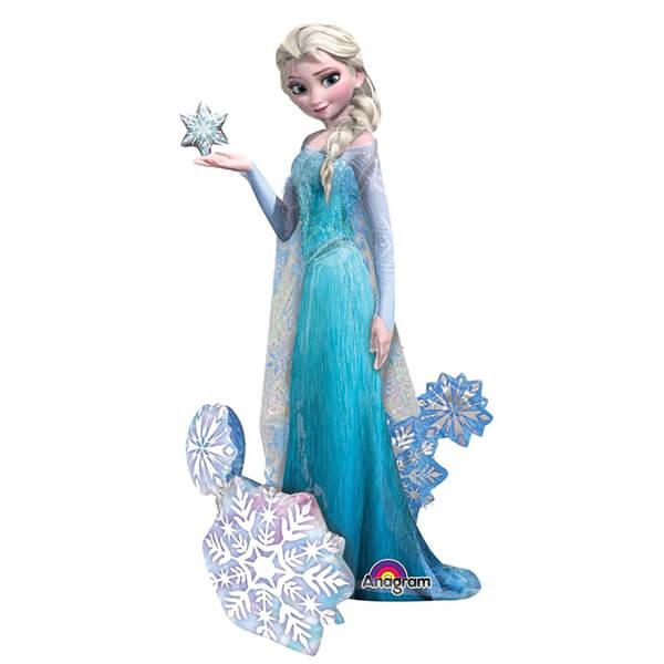 Ходячий шар Принцесса Эльза холодное сердце 33″/84 см с гелием