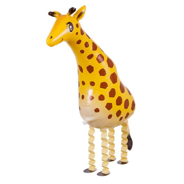 Ходячий шар жираф жёлтый 28″/71 см с гелием