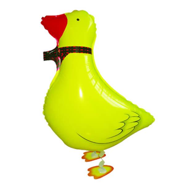 """Ходячий шар жёлтая утка 23""""/58 см с гелием"""