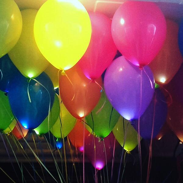 Светящиеся шары ассорти 25 шт