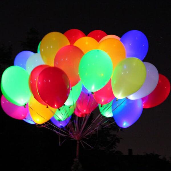 Светящиеся шары ассорти 50 шт