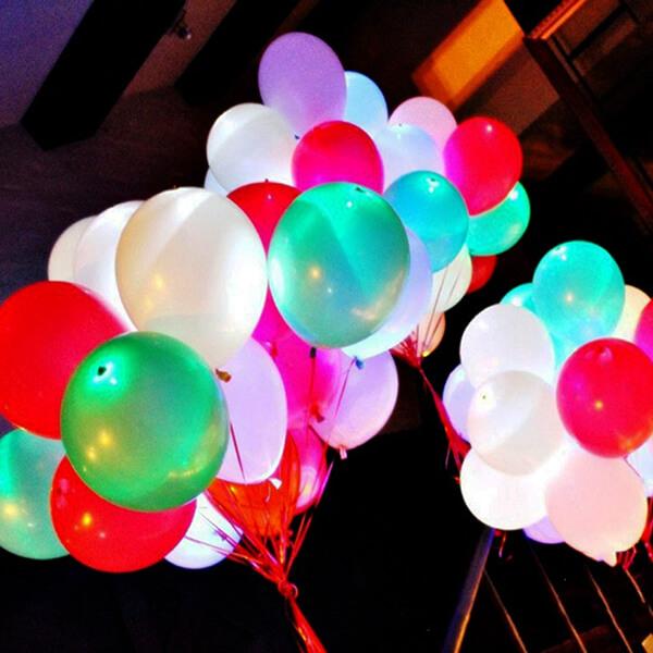 Светящиеся шары ассорти 75 шт