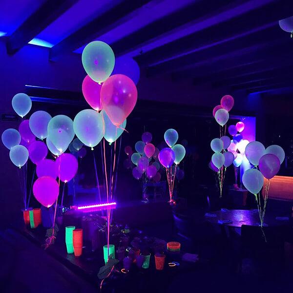 Светящиеся шары кристалл с гелием фонтаны 50 шт