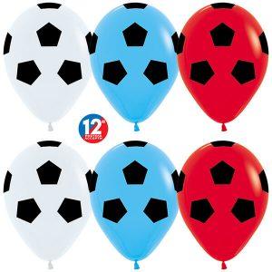 Футбольный мяч флаг России 25 шариков с гелием
